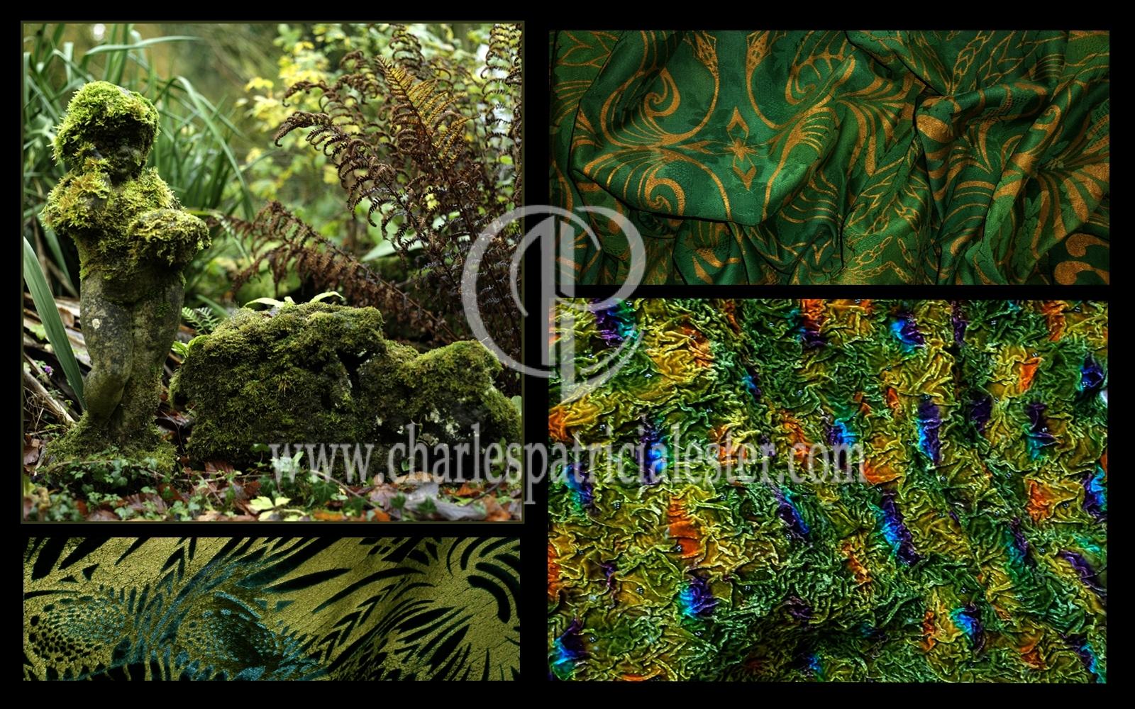 Inspiration textile art - Moss green boy