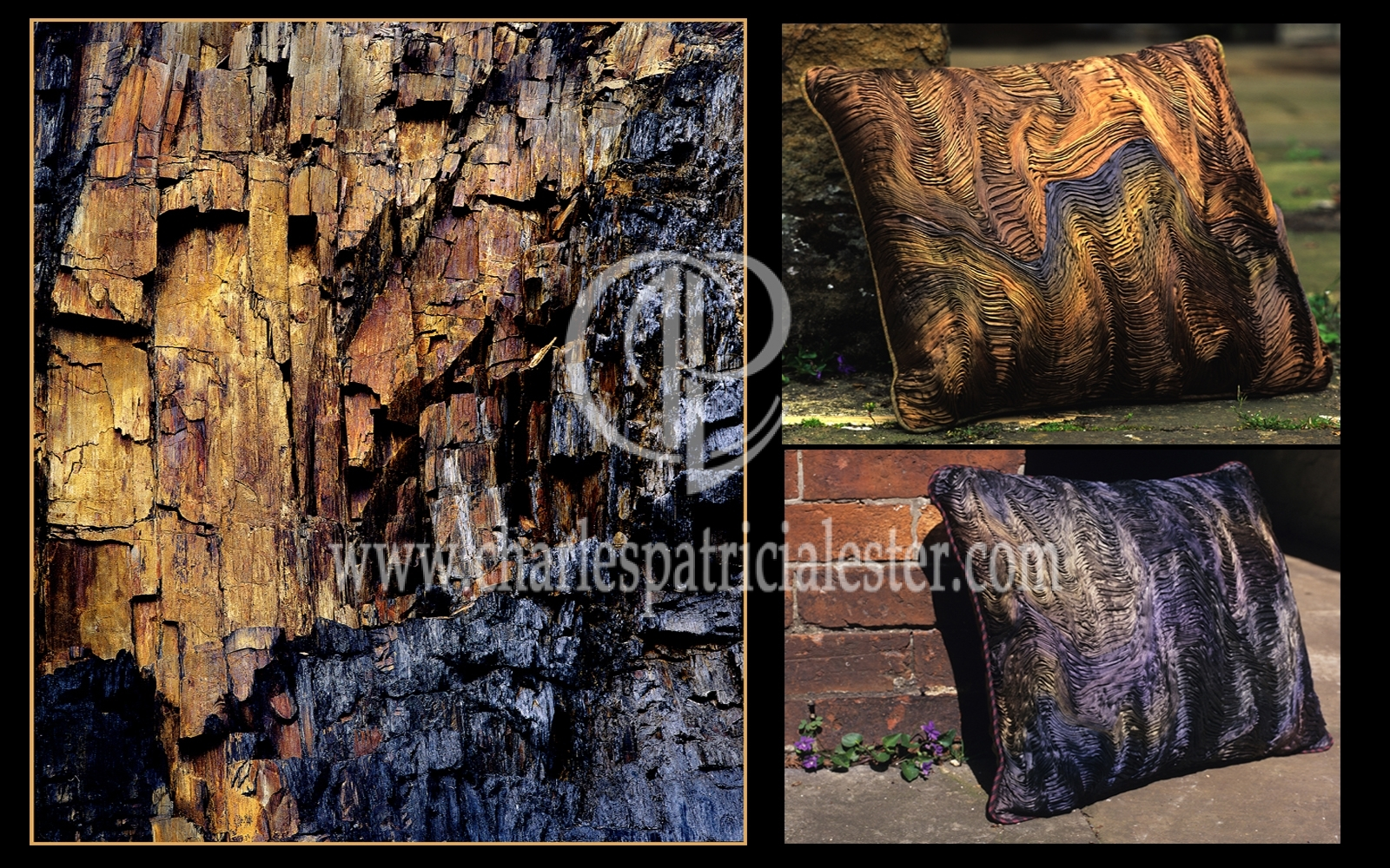 Inspiration textile art - pleated silk cushions