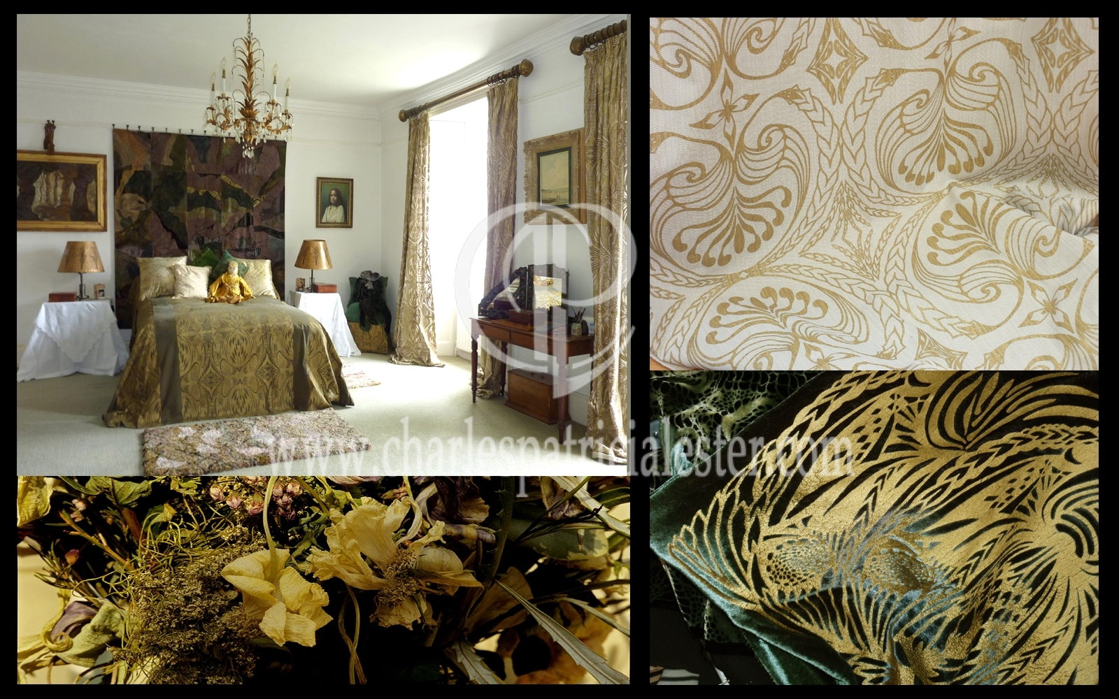 Luxury textile art for the home