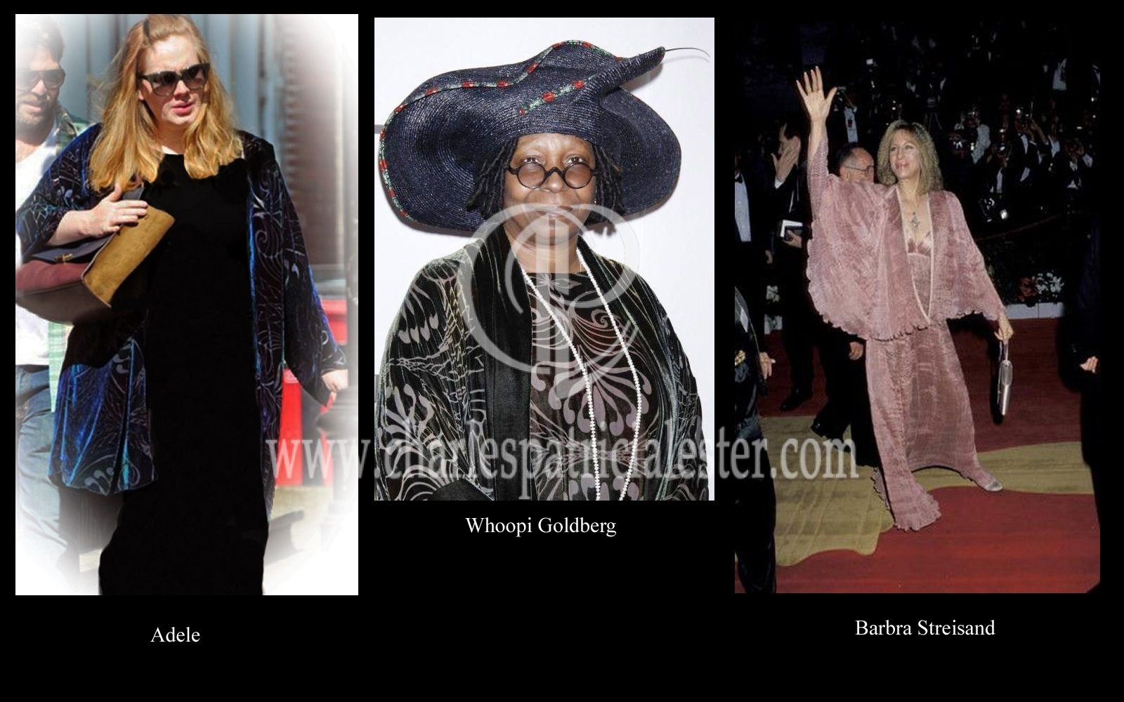 Adele, Whoopi Goldberg and Barbra Streisand