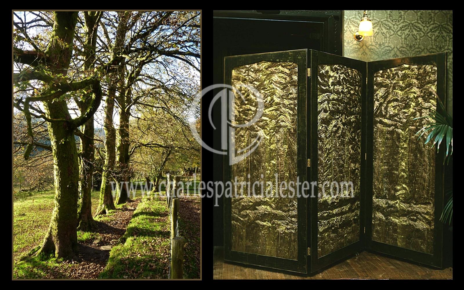 Inspirational textile art - tree screen Leighton House museum