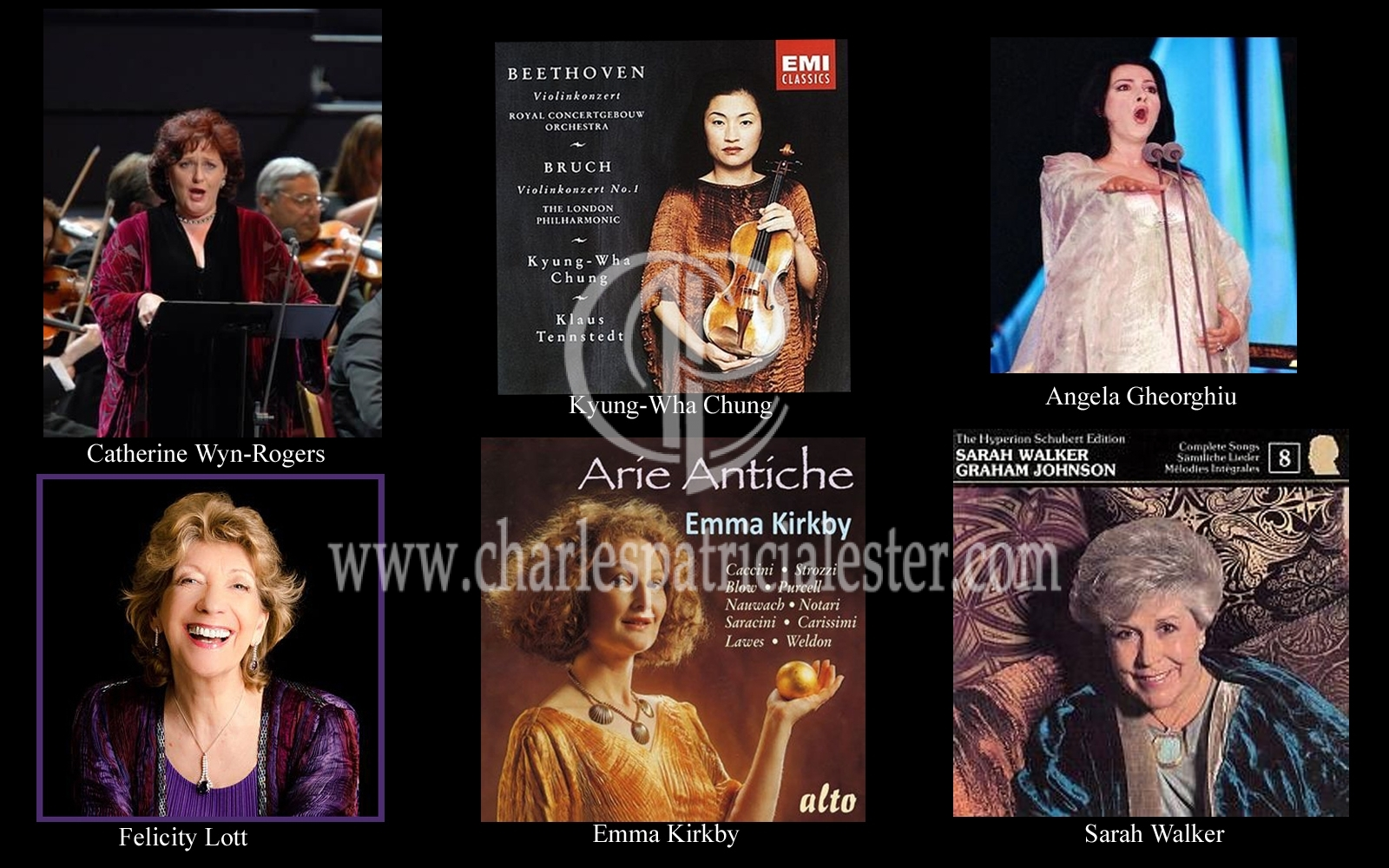 Opera and classical musicians in designs by Charles and Patricia Lester