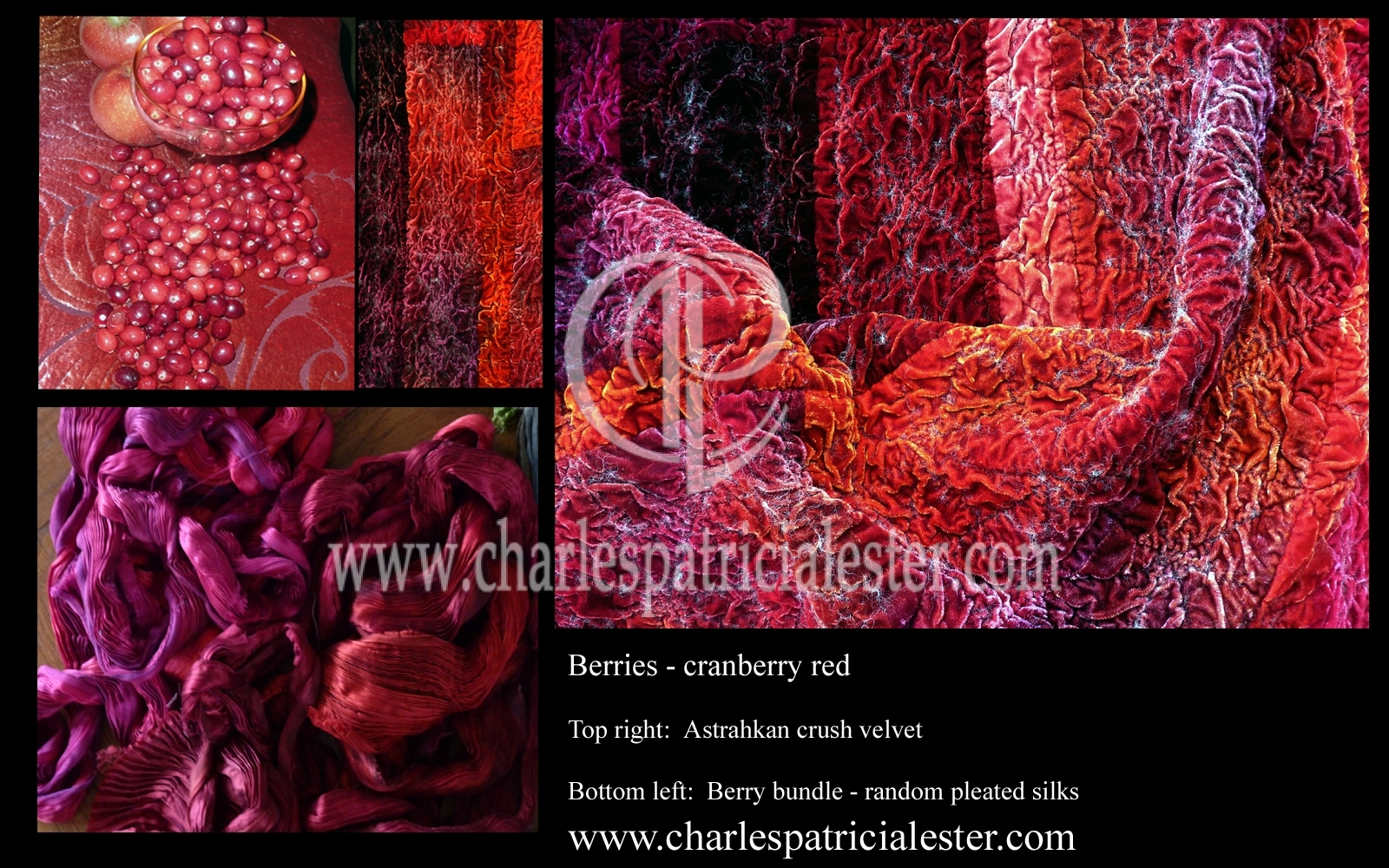 Cranberry red berries rich velvet luxury decadent