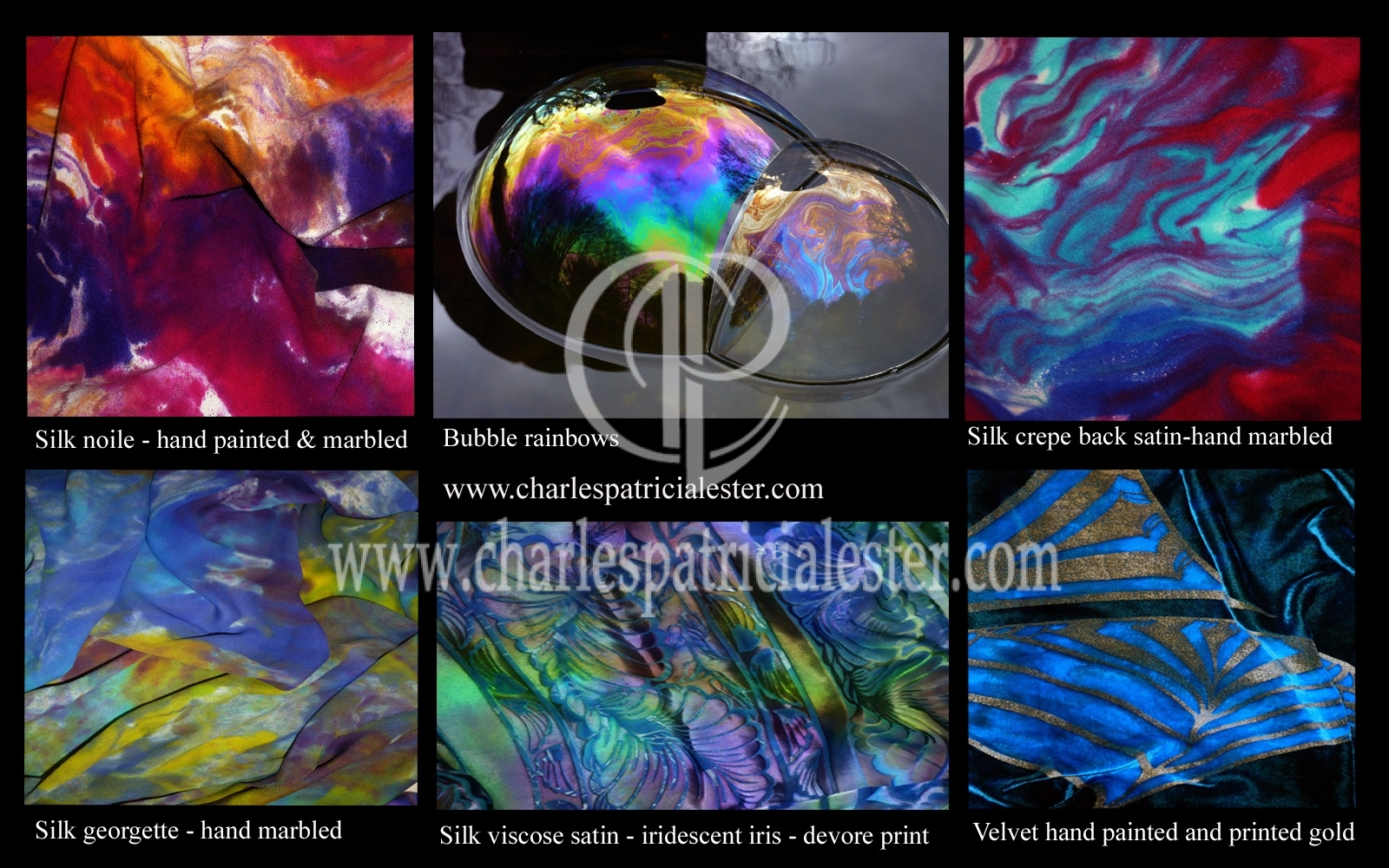 Rainbow bubble colours transposed to marbled silks