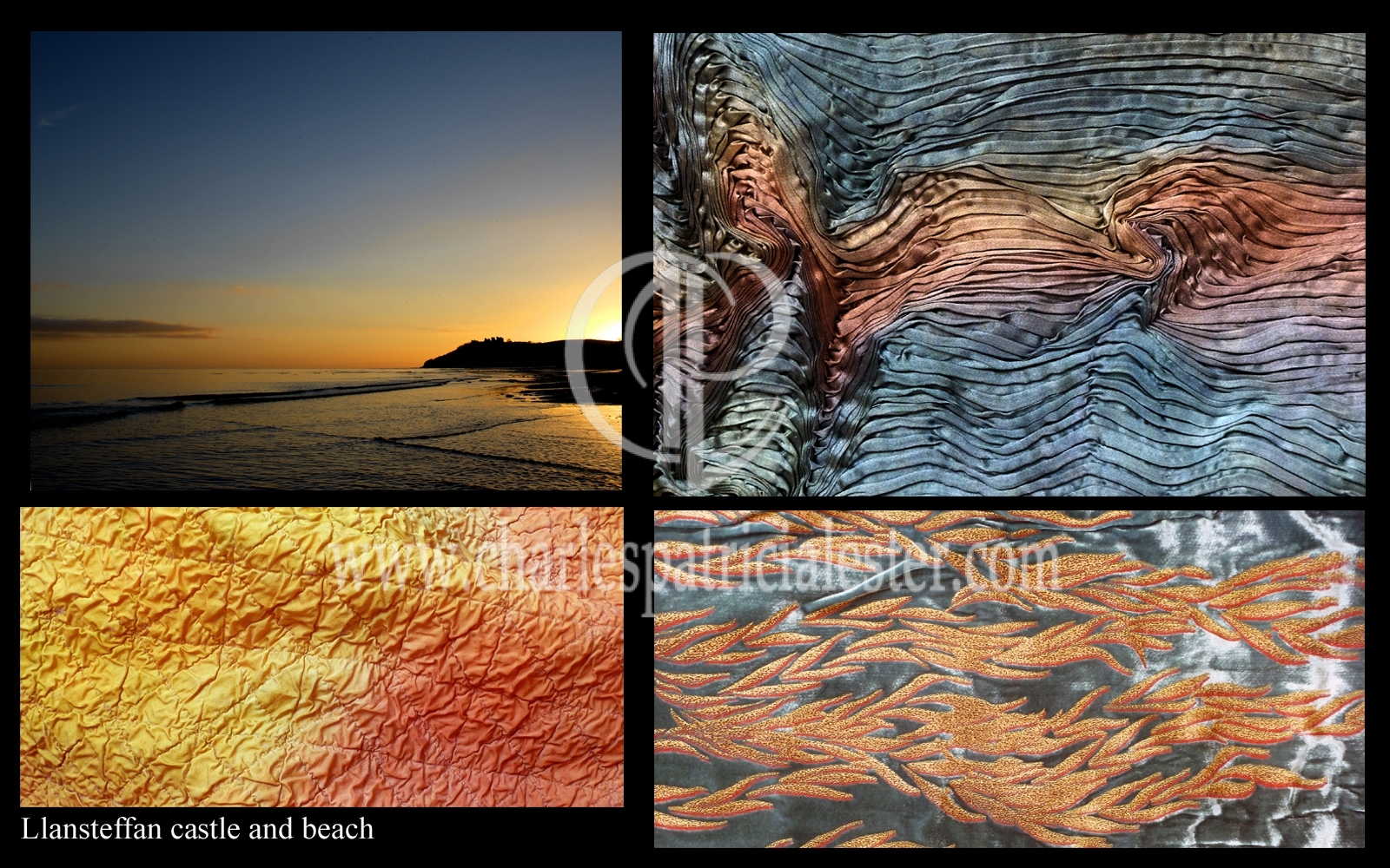Beach Sunset interior art textiles