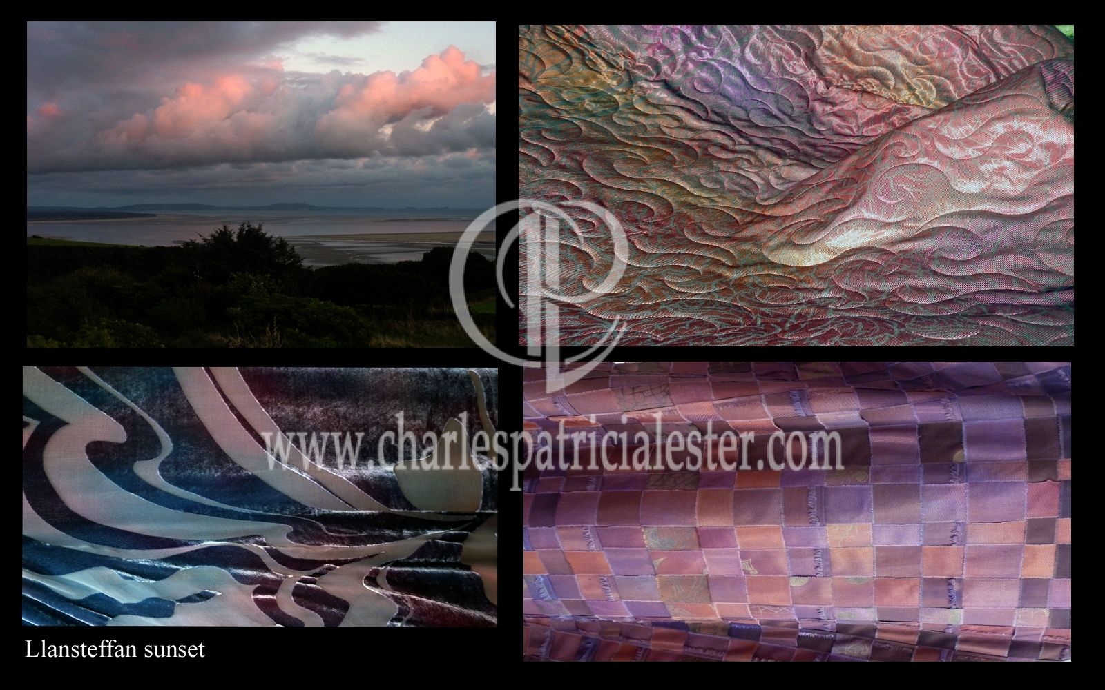 Llansteffan Sunset cloud colours over the sea - textile texture inspirations