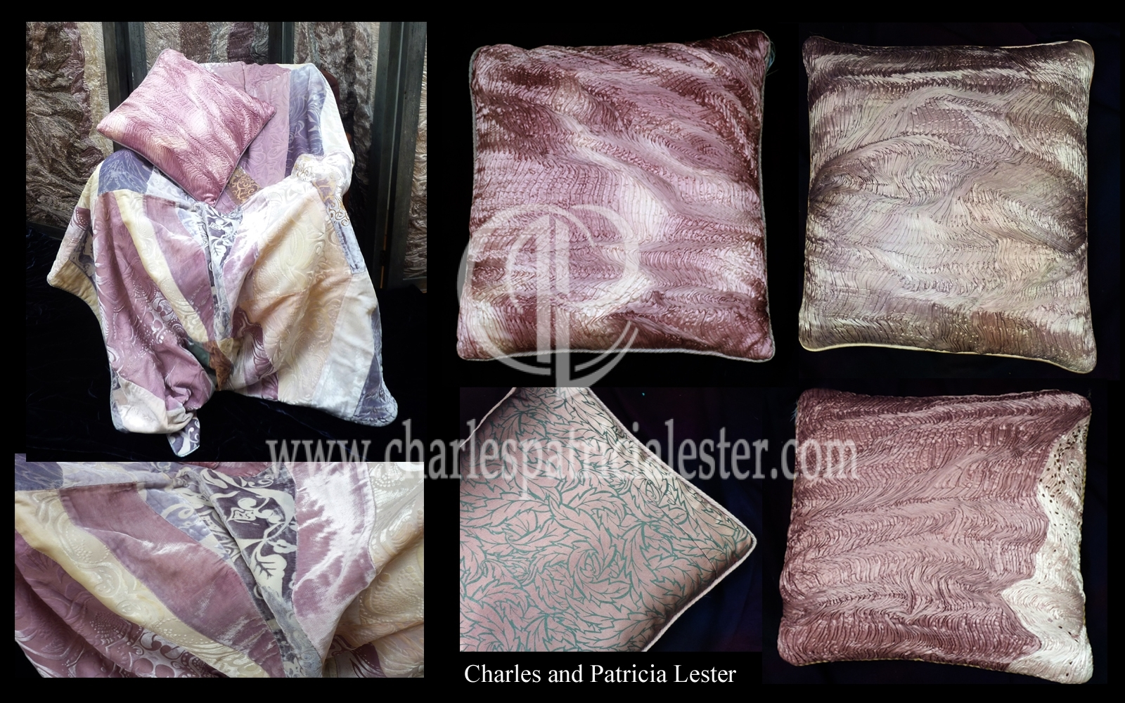 Luxury art for the home pink selection pleated cushions