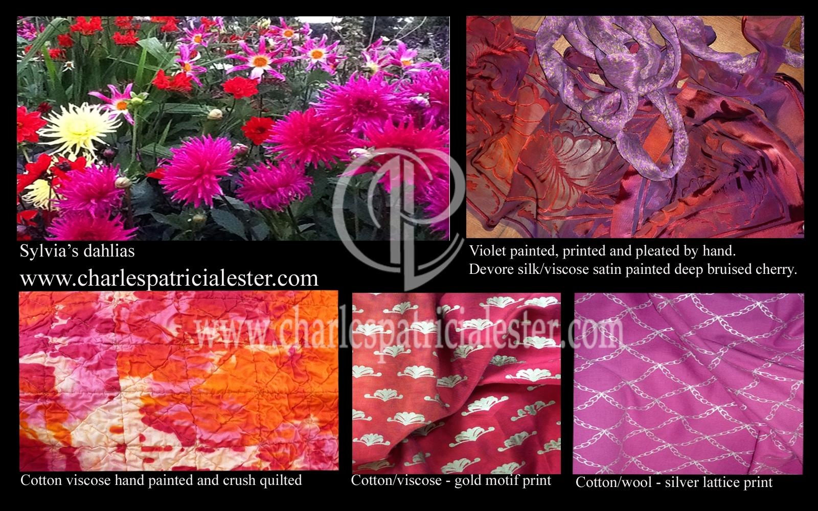Warm colours of dahlias interior luxury