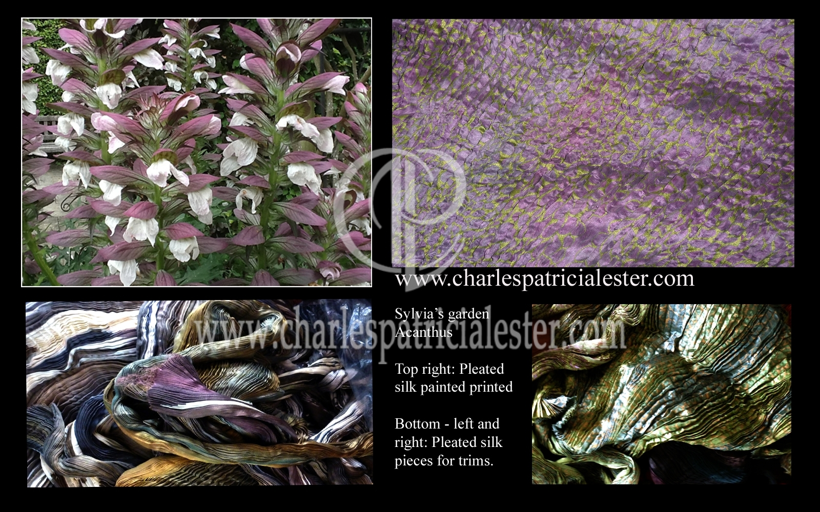 Sylvia's garden acanthus tones of mauve and soft green for interior project