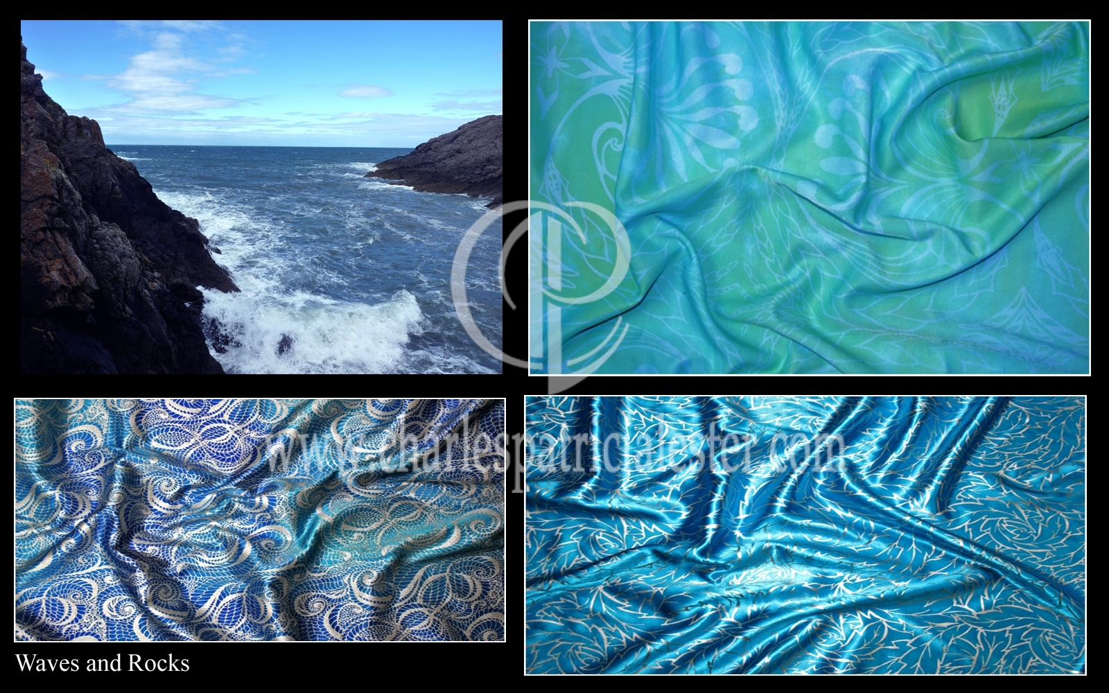 Coast rocks and waves colour theme