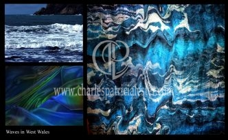 Waves in West Wales colour inspiration