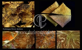 Golden luxury textiles for the home