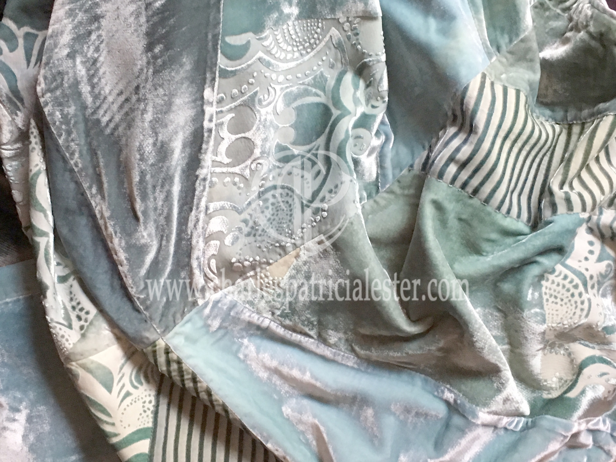 Soft velvet luxury throw for a feminine bedroom