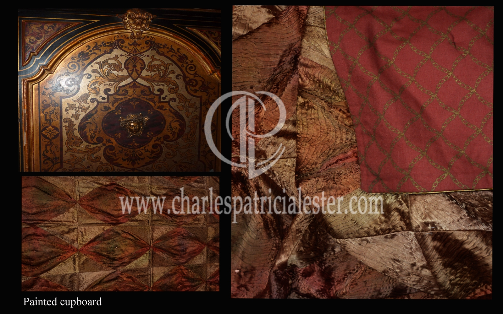 Luxury silk wall hangings for a super yacht interior